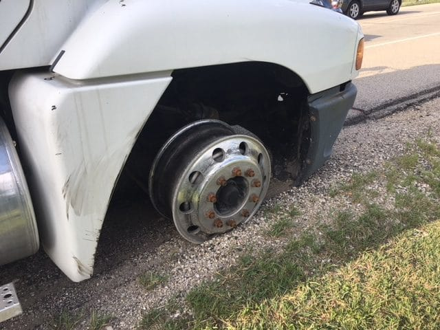 flat tire, movers in kensoha, kenosha moving company